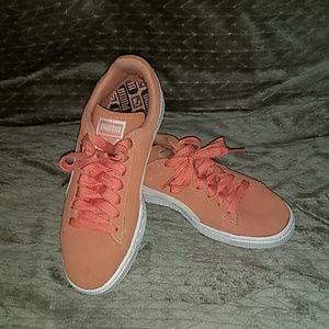 Puma Suede Peach/Coral Shoes
